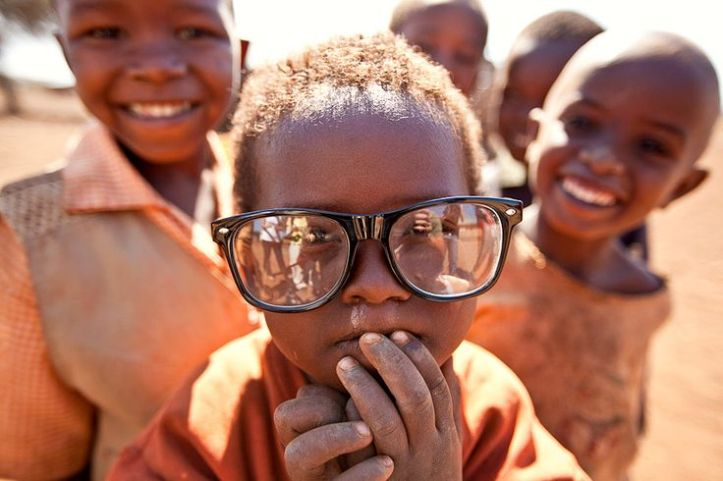 african child glass