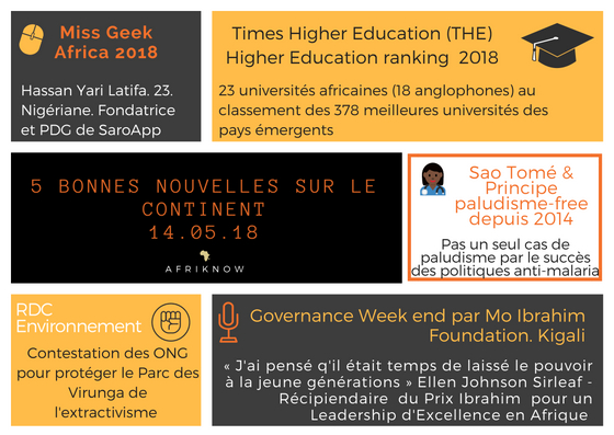 5 bonnes nouvelles sur le continent